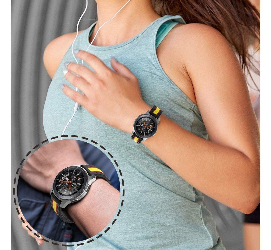 Strap-it® Samsung Galaxy Watch 3 Special Edition band 45mm (zwart/geel)
