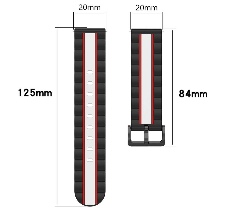 Strap-it® Garmin Venu Special Edition band (zwart/wit)