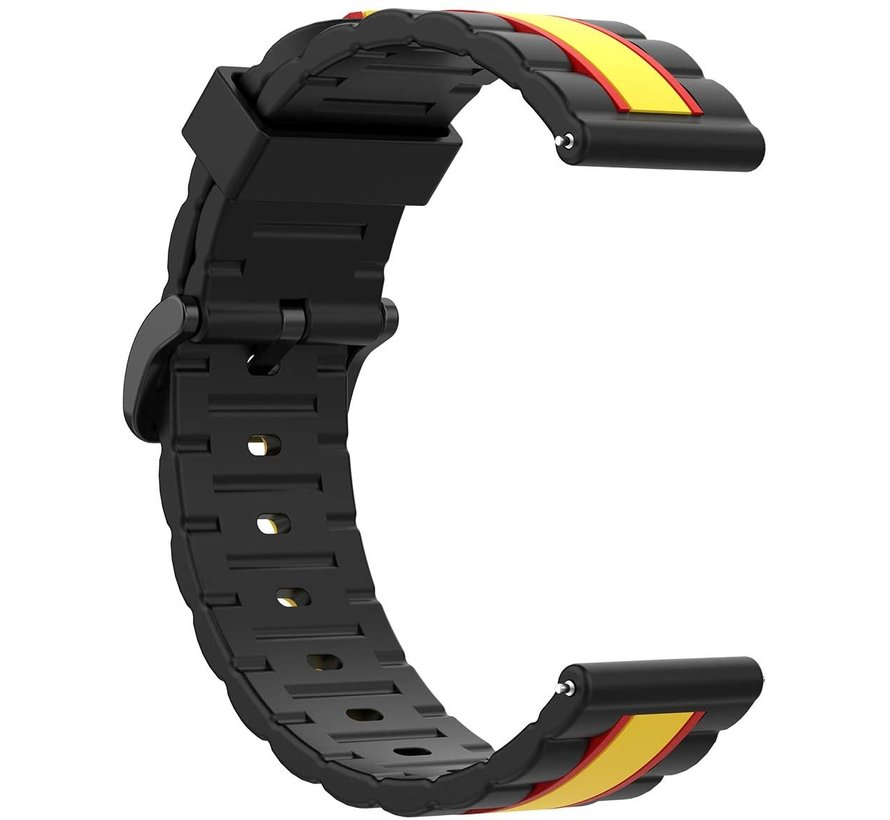 Strap-it® Garmin Vivoactive 4 Special Edition band (zwart/geel)