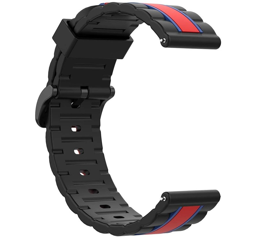 Strap-it® Garmin Vivoactive 4 Special Edition band (zwart/rood)