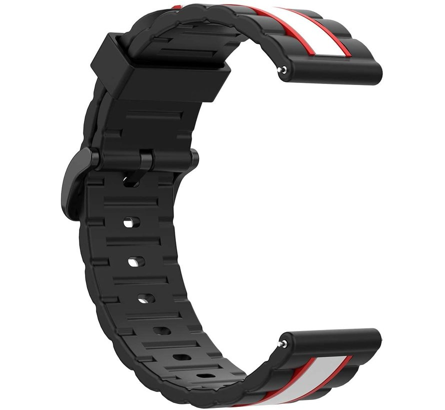 Strap-it® Garmin Vivoactive 4 Special Edition band (zwart/wit)