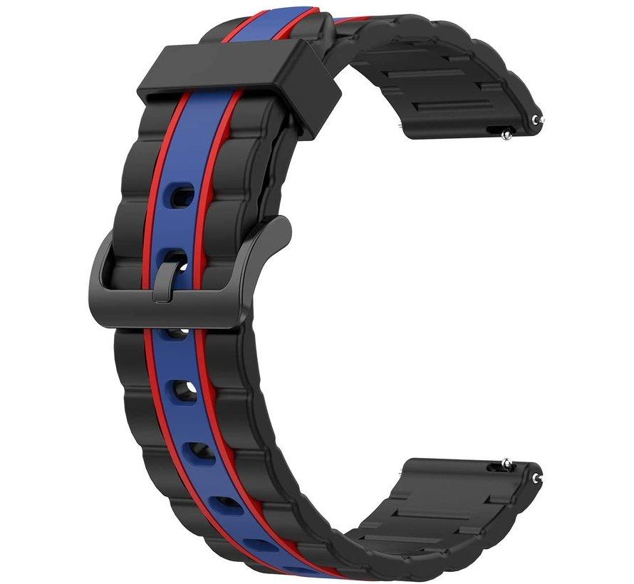 Strap-it® Samsung Gear S3 Special Edition band (zwart/blauw)