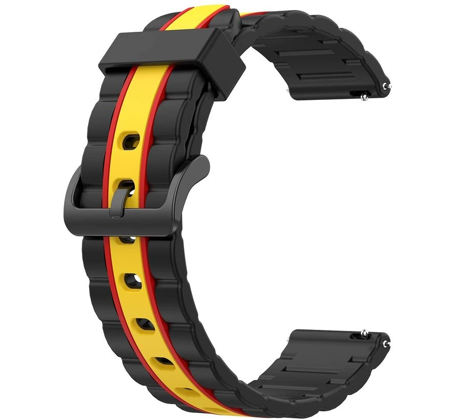 Strap-it® Xiaomi Amazfit Bip Special Edition band (zwart/geel)