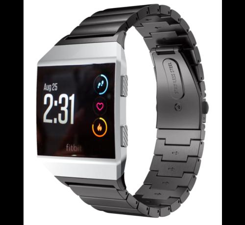 Strap-it® Strap-it® Fitbit Ionic metalen bandje (zwart)