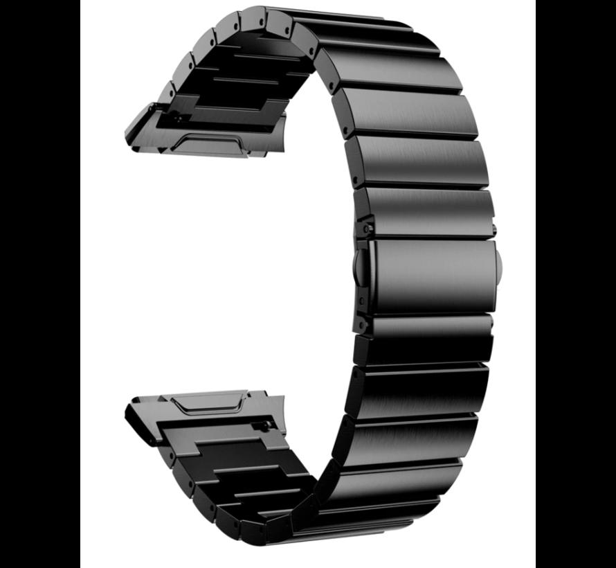Strap-it® Fitbit Ionic metalen bandje (zwart)