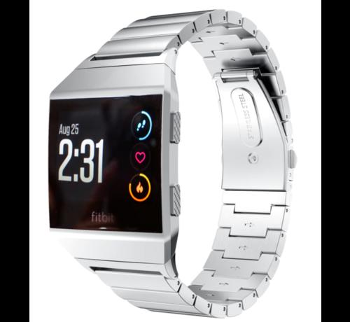 Strap-it® Strap-it® Fitbit Ionic metalen bandje (zilver)
