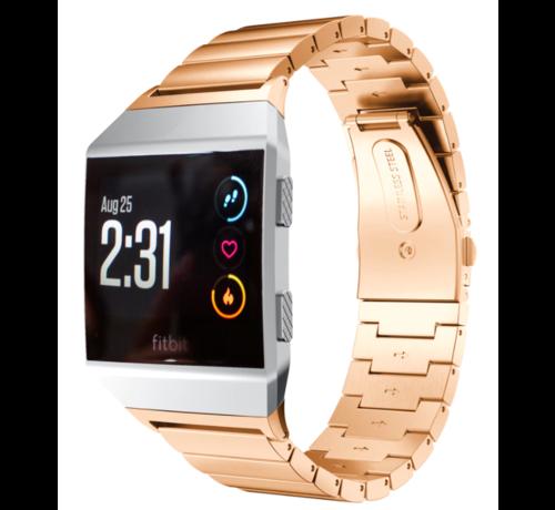 Strap-it® Strap-it® Fitbit Ionic metalen bandje (rosé goud)