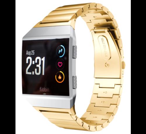 Strap-it® Strap-it® Fitbit Ionic metalen bandje (goud)