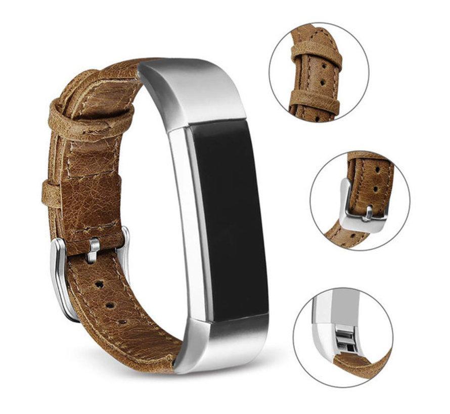 Strap-it® Fitbit Alta / Alta HR leren bandje (bruin)