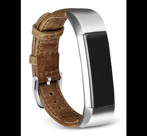 Strap-it® Strap-it® Fitbit Alta / Alta HR leren bandje (bruin)