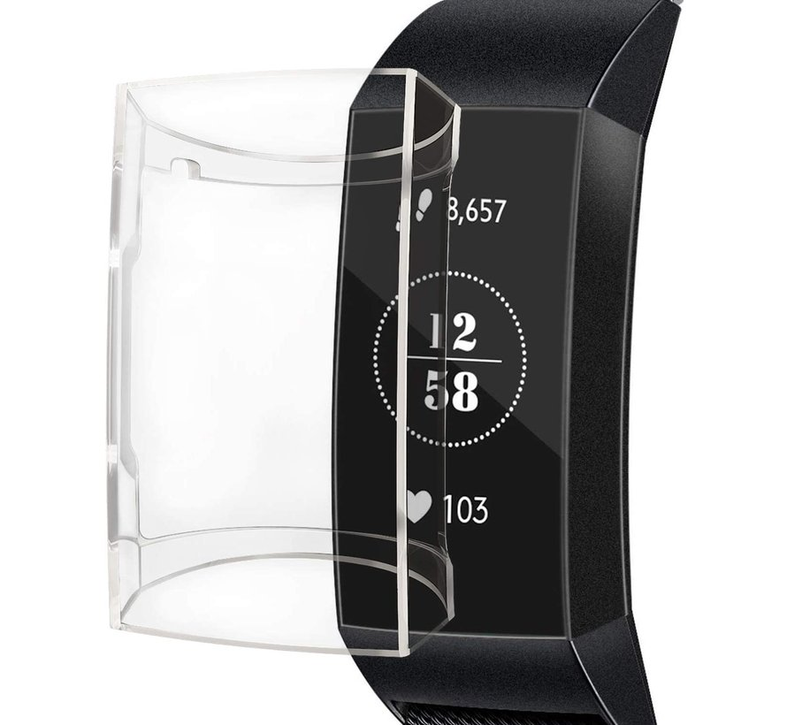 Strap-it® Fitbit Charge 3/4 TPU case (transparant)