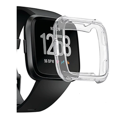 Strap-it® Strap-it® Fitbit Versa TPU case (transparant)