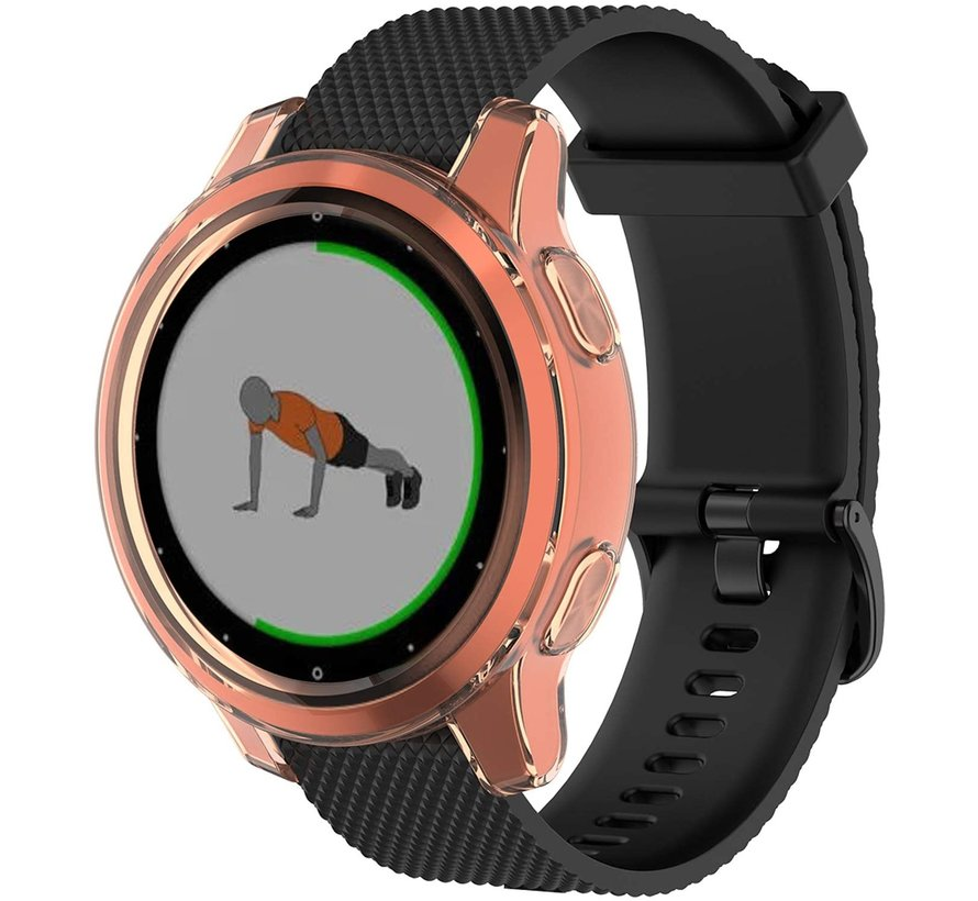 Strap-it® Garmin Vivoactive 4s TPU case (transparant oranje)