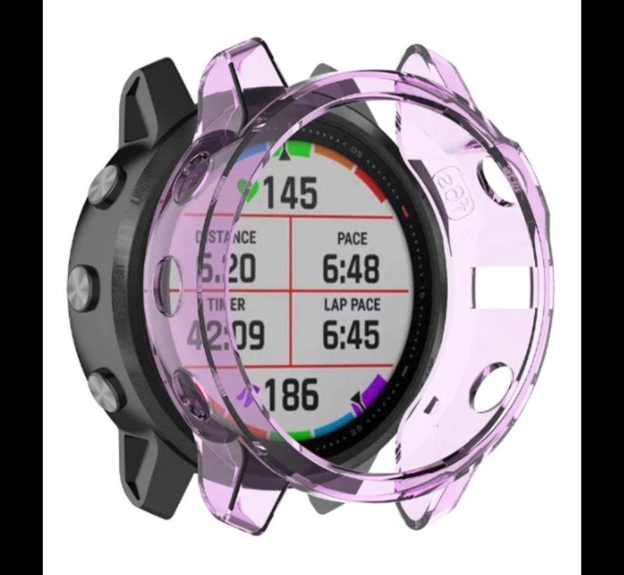 Strap-it® Garmin Fenix 5s TPU case (transparant paars)