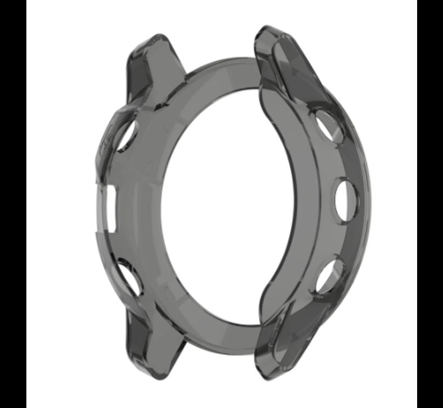Strap-it® Garmin Fenix 6s TPU case (transparant zwart)