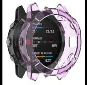 Strap-it® Garmin Fenix 6s TPU case (transparant paars)