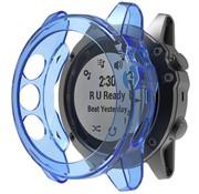 Strap-it® Garmin Fenix 5x TPU case (transparant blauw)
