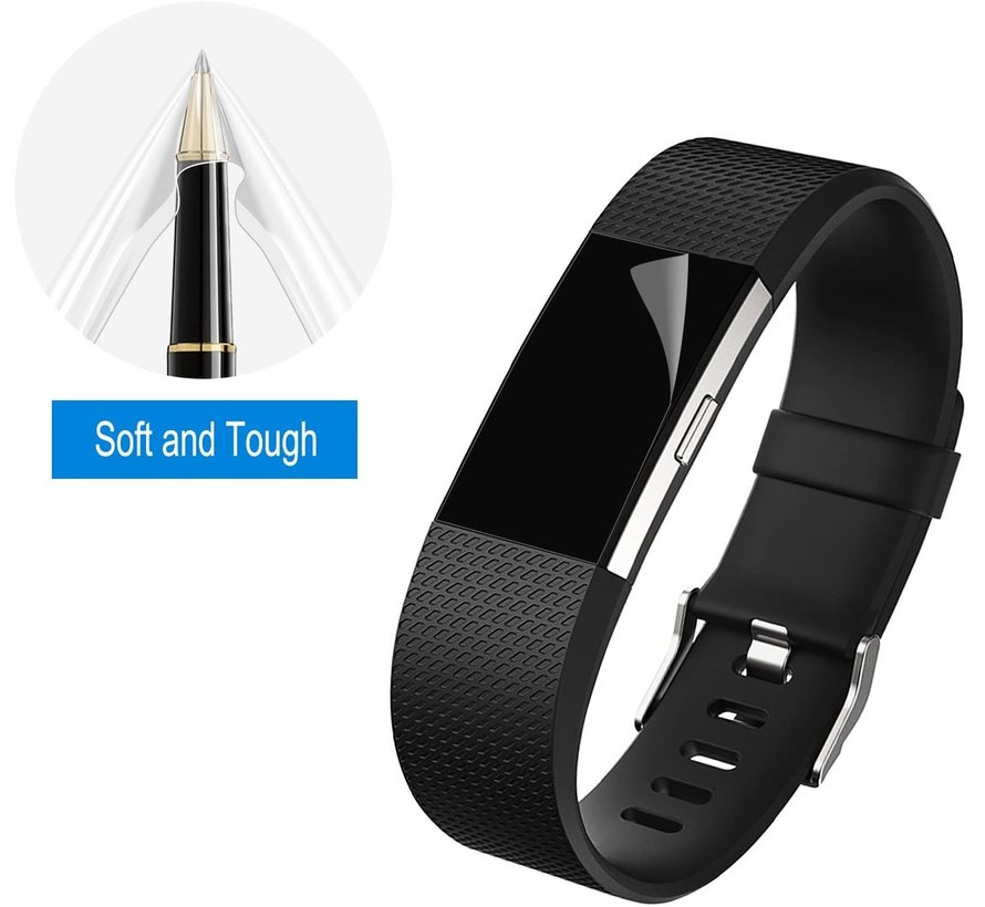 Strap-it® Fitbit Charge 2 screen protector (plastic folie)