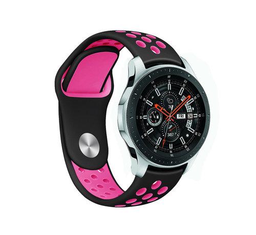 Strap-it® Strap-it® Samsung Galaxy Watch sport band 45mm / 46mm (zwart/knalroze)
