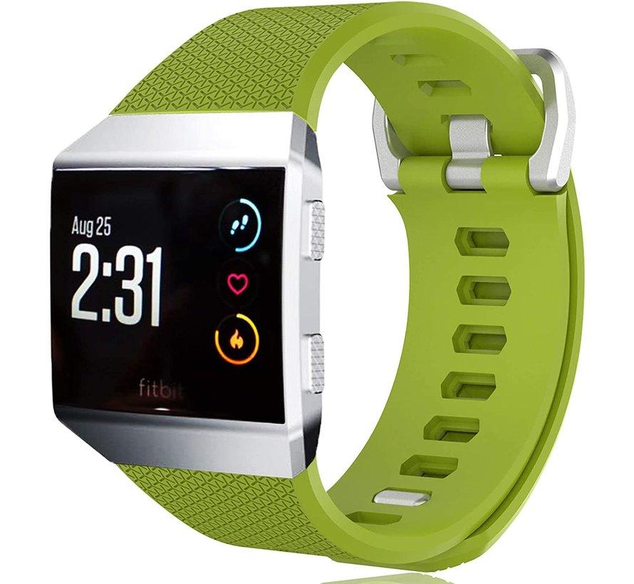 Strap-it® Fitbit Ionic siliconen bandje (lichtgroen)