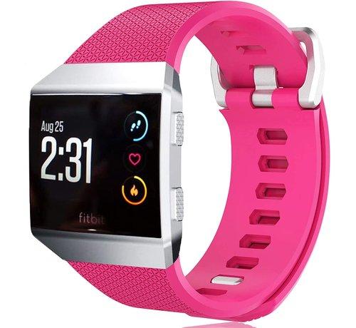 Strap-it® Strap-it® Fitbit Ionic siliconen bandje (knalroze)