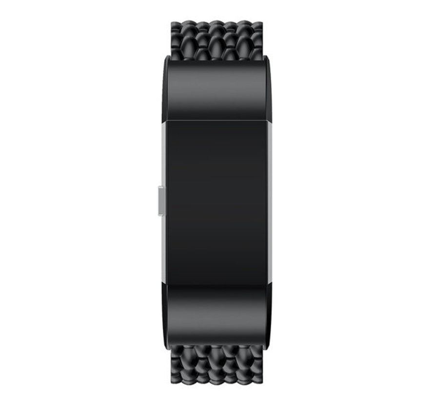 Strap-it® Fitbit Charge 4 stalen draak band (zwart)