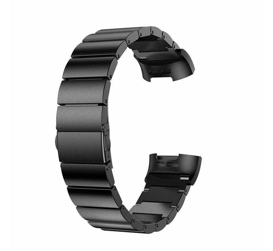Strap-it® Fitbit Charge 4 metalen bandje (zwart)
