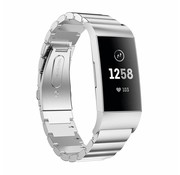 Strap-it® Fitbit Charge 4 metalen bandje (zilver)