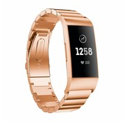 Strap-it® Fitbit Charge 4 metalen bandje (rosé goud)