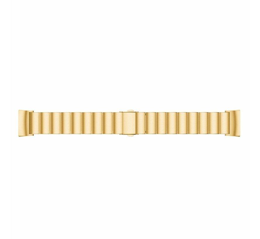 Strap-it® Fitbit Charge 4 metalen bandje (goud)