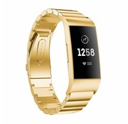 Strap-it® Fitbit Charge 4 metalen bandje (goud)