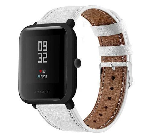 Strap-it® Strap-it® Xiaomi Amazfit Bip bandje leer (wit)