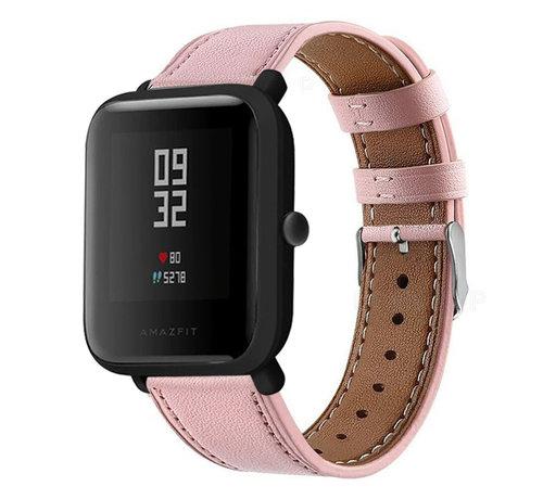 Strap-it® Strap-it® Xiaomi Amazfit Bip bandje leer (roze)