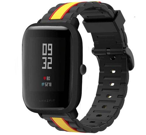 Strap-it® Strap-it® Xiaomi Amazfit Bip Special Edition band (zwart/geel)