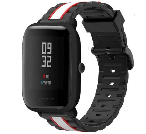 Strap-it® Strap-it® Xiaomi Amazfit Bip Special Edition band (zwart/wit)