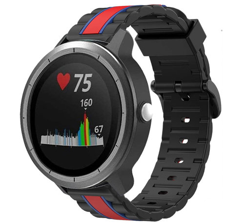 Strap-it® Strap-it® Garmin Vivoactive 3 Special Edition band (zwart/rood)