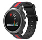 Strap-it® Garmin Vivoactive 3 Special Edition band (zwart/rood)