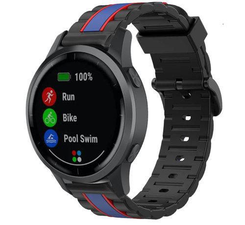 Strap-it® Strap-it® Garmin  Vivoactive 4 Special Edition band (zwart/blauw)