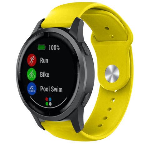 Strap-it® Strap-it® Garmin Vivoactive 4 sport band - 45mm - geel
