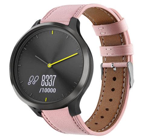 Strap-it® Strap-it® Garmin Vivomove HR bandje leer (roze)