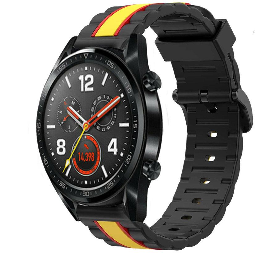 Strap-it® Huawei Watch GT Special Edition band (zwart/geel)