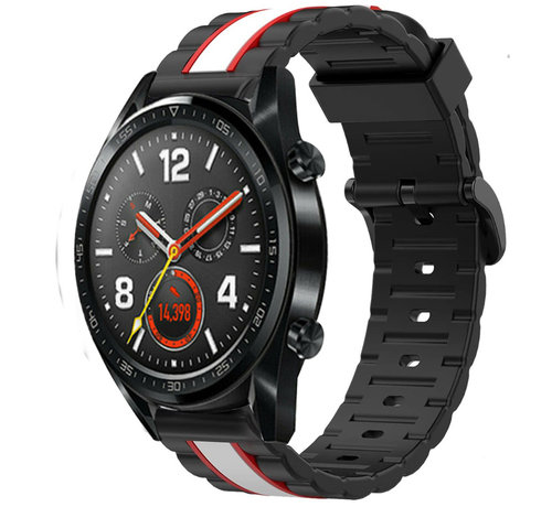 Strap-it® Strap-it® Huawei Watch GT Special Edition band (zwart/wit)