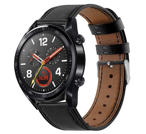 Strap-it® Strap-it® Huawei Watch GT bandje leer (strak-zwart)