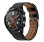 Strap-it® Huawei Watch GT bandje leer (strak-zwart)