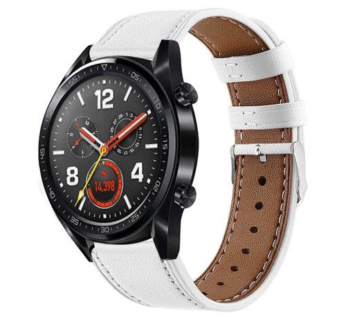 Strap-it® Strap-it® Huawei Watch GT bandje leer (wit)