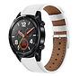 Strap-it® Huawei Watch GT bandje leer (wit)