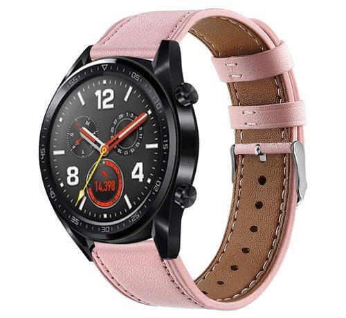 Strap-it® Strap-it® Huawei Watch GT bandje leer (roze)
