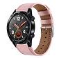 Strap-it® Huawei Watch GT bandje leer (roze)