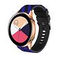 Strap-it® Samsung Galaxy Watch Active gestreept siliconen bandje (zwart/blauw)