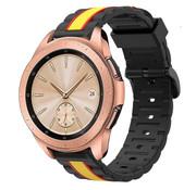 Strap-it® Samsung Galaxy Watch  41mm / 42mm Special Edition band (zwart/geel)